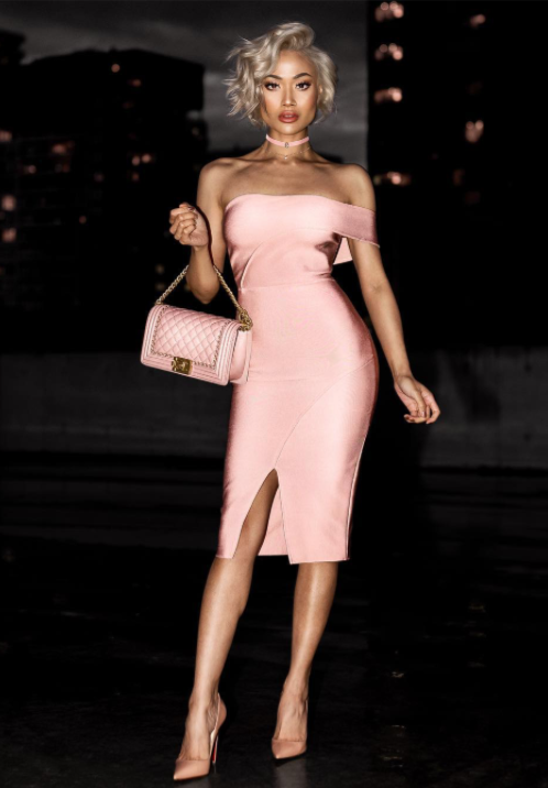Champagne Kisses Bandage Dress