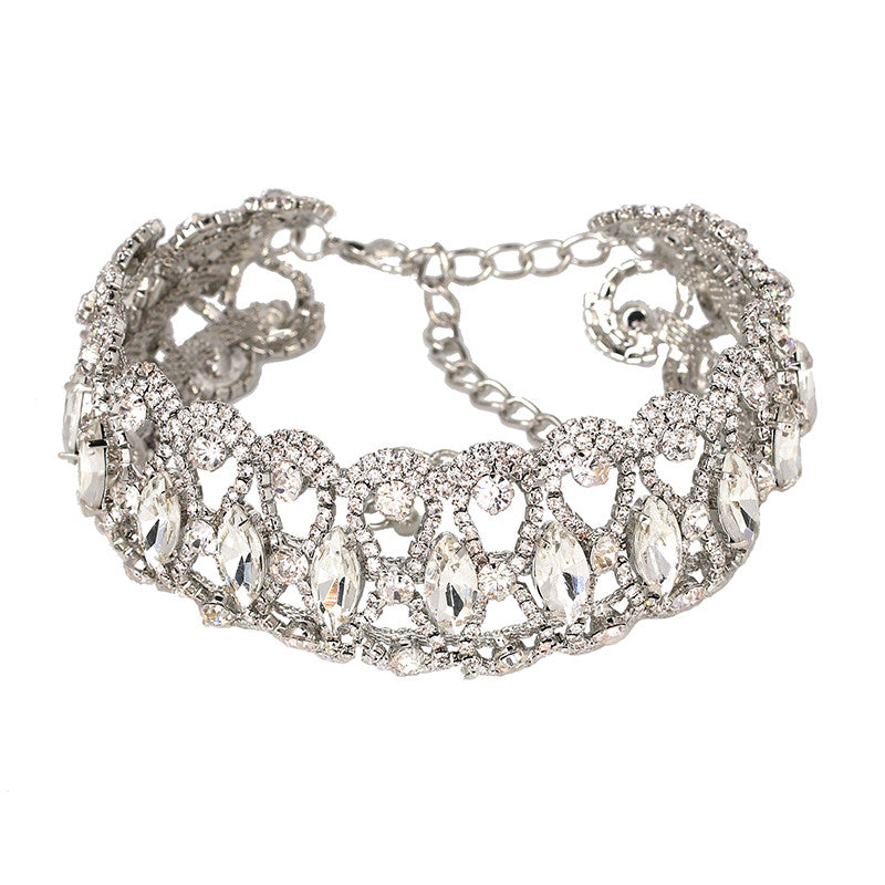 KARA Silver Choker Necklace
