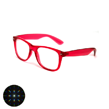 Electric Red Diffraction Glasses