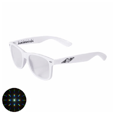 White Folding Diffraction Glasses