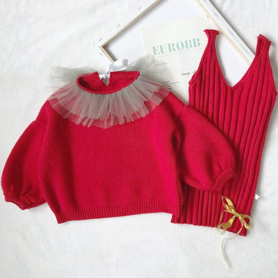 2pcs Princess Knit Set - Little Palace Store