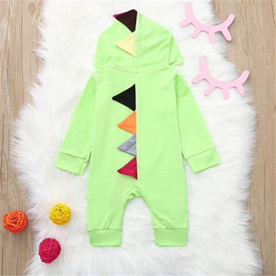 Dino Baby Hooded Rompers