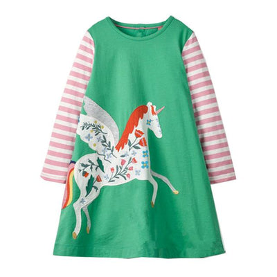 Amelia's Flying Unicorn Dress - Little Palace Store
