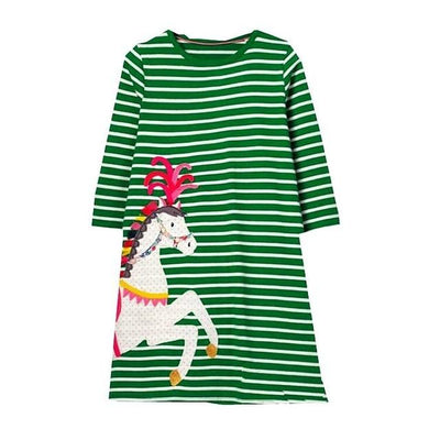 Amelia's Pony Dress - Little Palace Store