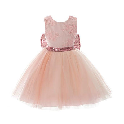 Bow Sparkles Princess Bowtique Dress - Priority Shipping - Little Palace Store