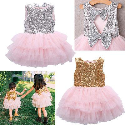Bowtique Bows Sparkle Dress- Priority Shipping - Little Palace Store
