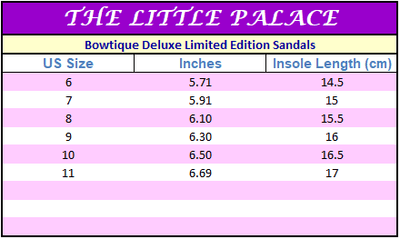 Bowtique Deluxe Limited Edition Sandals - Little Palace Store