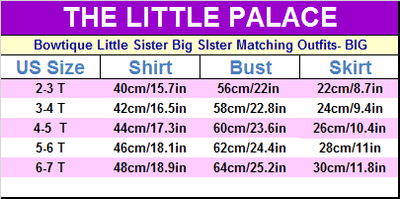 Bowtique Little Sister Big SIster Matching Outfits - Little Palace Store