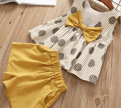 Bowtique Polka Bow Set - Priority Shipping Clothing Sets Little Palace Store