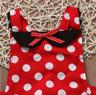 Bowtique Polka Dot Romper - Little Palace Store