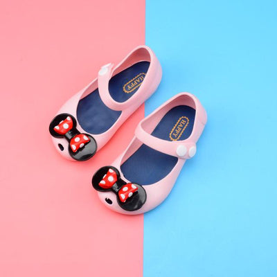 Bowtique Polka Dotty Jelly Sandals (Standard) - Little Palace Store