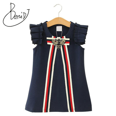 Bowtique Striped Bow Dress - Little Palace Store