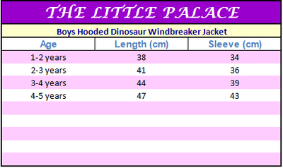 Boys Hooded Dinosaur Windbreaker Jacket - Little Palace Store