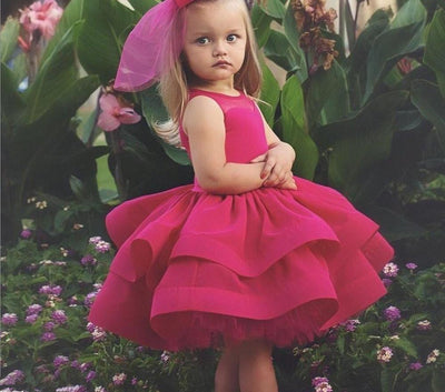 Carmine Pink Princess Dress - Little Palace Store