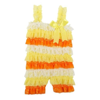 Colourful Posh Ruffle Romper - Little Palace Store