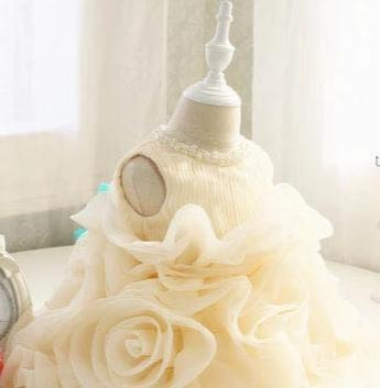 Creamy Cake Flower Princess Dress-Limited Edition - Little Palace Store