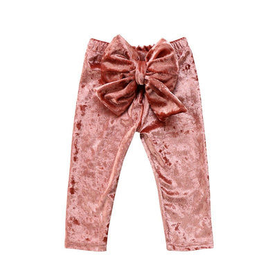 Crushed Bow Leggings - Little Palace Store