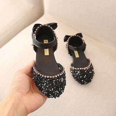 Crystal Bowknot Princess Sandal - Priority Shipping Sandals Little Palace Store 13 Black