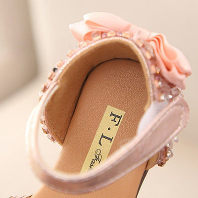 Crystal Bowknot Princess Sandal - Priority Shipping Sandals Little Palace Store