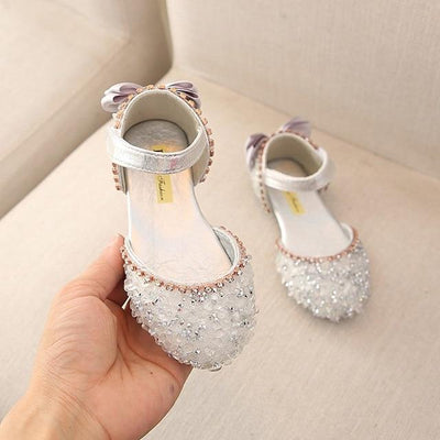 Crystal Bowknot Princess Sandal - Little Palace Store