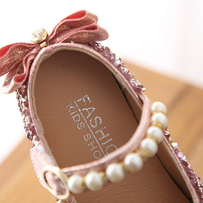 Crystal Bowknot Princess Shoes - Little Palace Store