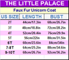 Faux Fur Unicorn Coat - Priority Shipping - Little Palace Store
