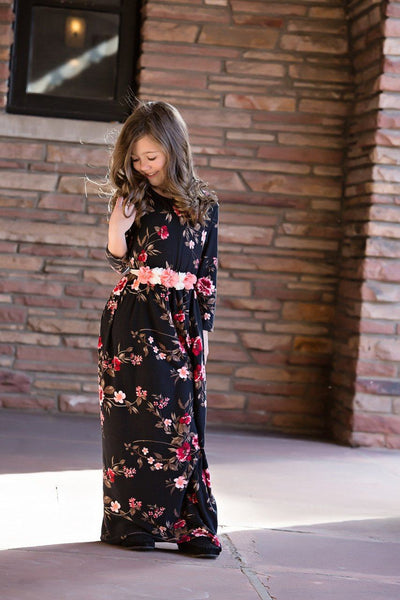 Floral Maxi Dress Matching Outfit - Little Palace Store