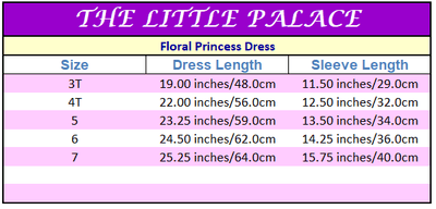 Floral Princess Dress - Little Palace Store