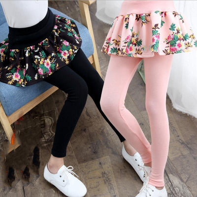 Floral Skirt Leggings - Little Palace Store