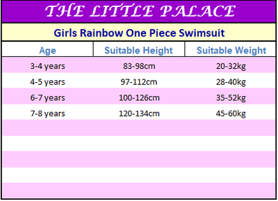 Girls Rainbow One Piece Swimsuit - Little Palace Store