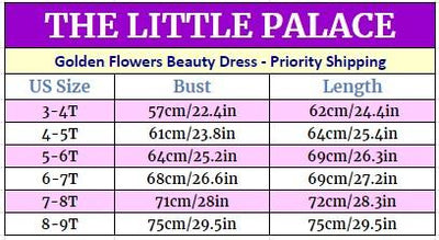 Golden Flowers Beauty Dress - Priority Shipping Dresses Little Palace Store