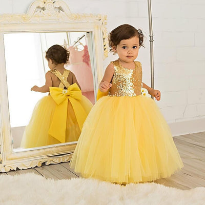 Golden Princess Glam Dress - Little Palace Store
