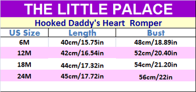 Hooked Daddy's Heart  Romper - Little Palace Store