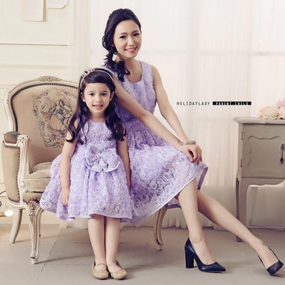 Hundred Flowers Mother Daughter  Dress - Little Palace Store