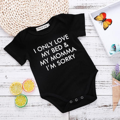 I Only Love My Bed and My Mama Romper - Little Palace Store