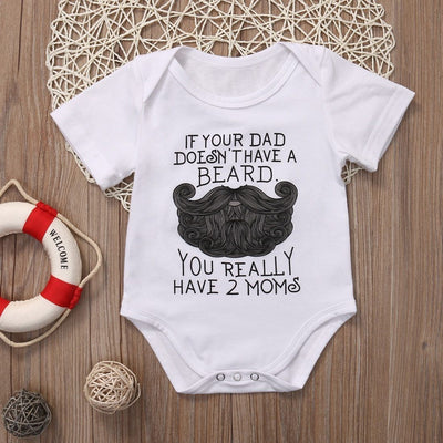 If Your Dad Doesn't Have A Beard Onesies - Little Palace Store