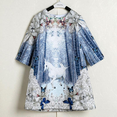 Isabella  Unicorn Dress - Little Palace Store