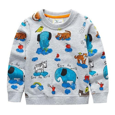 Jasper's Zoo Friends World Sweatshirt - Little Palace Store