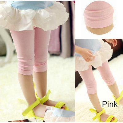 Knee Length Candy Color Leggings - Little Palace Store