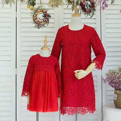 Lace Dress Matching Outfit - Little Palace Store