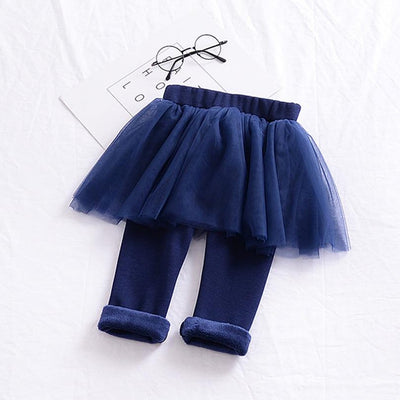 Little Princess Velvet Leggings with Tutu - Little Palace Store