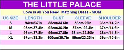 Love is All You Need  Matching Dress - Little Palace Store