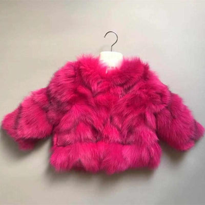 Lux Faux Fur Coats Jackets & Coats Little Palace Store pink 110cm/4T