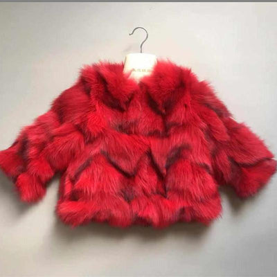 Lux Faux Fur Coats Jackets & Coats Little Palace Store RED 110cm/4T