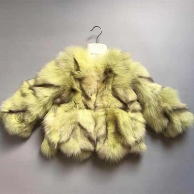Lux Faux Fur Coats Jackets & Coats Little Palace Store Yellow 110cm/4T