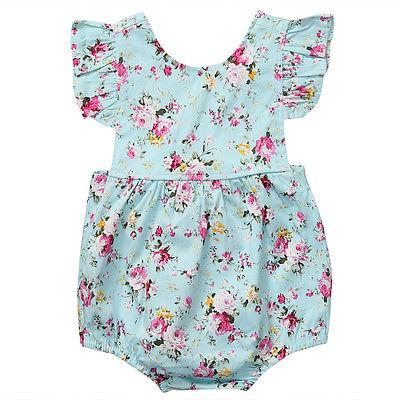 Mini Princess Floral Romper  - Little Palace Store