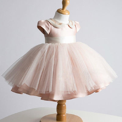 Mini Princess Pearl And Blush Rose Dress - Little Palace Store
