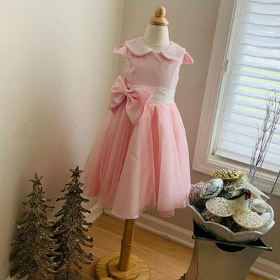Mini Princess Pearl And Blush Rose Dress - Priority Shipping - Little Palace Store