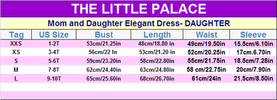 Mom and Daughter Elegant Dress - Little Palace Store