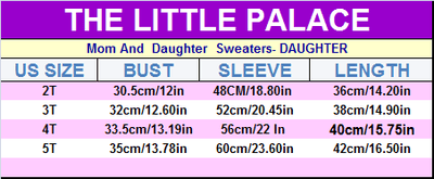 Mom And  Daughter  Sweaters - Little Palace Store